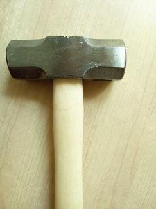 Mango de madera martillo de bola del martillo con punta de bola de herramientas de hardware