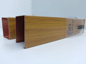 La Chine à céréales en bois de gros tuyau linéaire décoratif en forme de U Plafond du déflecteur en aluminium