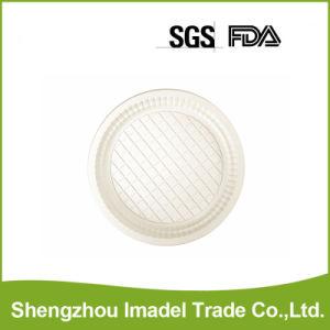 Plaque ronde d'amidon de maïs biodégradable