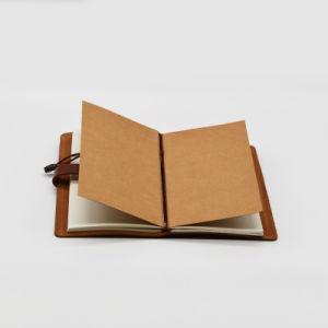 Qualidade superior de couro real com o papel offset dentro do notebook PU