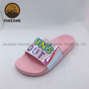 EVA Vamp PU Pink Sole chinelos com padrão de malha