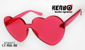 Forme de coeur de la mode Muti-Colored Lunettes de soleil en plastique avec un morceau de lentille80073 Kp