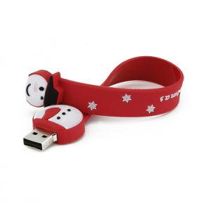 Рождественский подарок снежную бабу браслет флэш-накопитель USB
