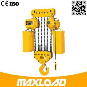 75ookg熱い販売法のホックの中断タイプが付いている電気チェーン起重機
