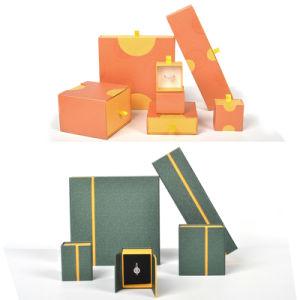 Het Document van de fabriek/Plastiek/de Houten/Lade van de Gift van de Juwelen van het Leer Luxe Aangepast/Horloge dubbel-Open/Clamshell die het Rode/Zwarte Kosmetische Vakje van de Opslag van het Parfum verpakken