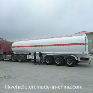 Tri-Welle 40000L 45000L 50000L Dieselheizöl-Tanker-halb Schlussteil