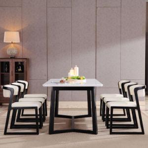 ホームのための木製のレストランの家具MDFか水晶石造りの上のダイニングテーブル