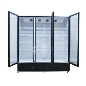 1592L большой потенциал тройного стекла двери в вертикальном положении Отапливаться напитков прилавок-витрина охладителя