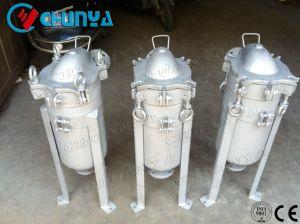 衛生ステンレス鋼の上エントリ単一のバッグフィルタハウジング