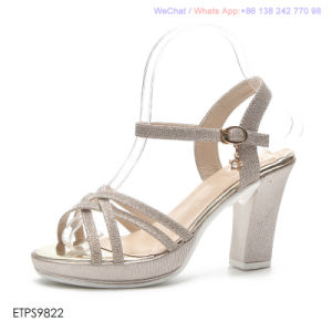 Womens Strappy sandales talon bloc Mesdames Open Toe Chaussures de soirée