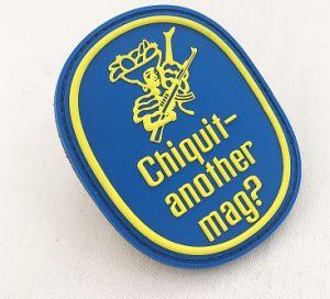 Nombre personalizado bolsas Patch Logotipo de PVC de goma