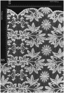 環境に優しい花デザインNylon&Cottonの純ファブリック