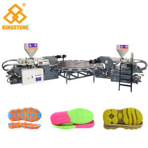 Une couleur rotatif automatique PVC TPR Shoe Making Machine unique