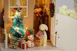 DIY Cuteroom Doll House Miniature presente de Natal Crianças Toy Z-009