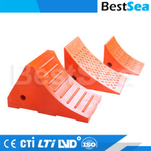 Orange Farbe reflektierender PU-Sicherheits-Rad-Keil