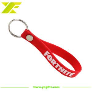 주문 선전용 선물 (SK12-C)를 위한 로고에 의하여 인쇄되는 실리콘 소맷동 Keychain