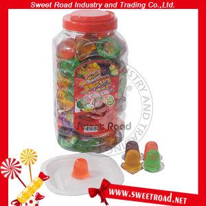 Halalの菓子の正方形の瓶の小型フルーツゼリープディングコップキャンデー