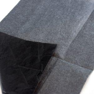주문을 받아서 만들어진 의복 검정 로고에 의하여 인쇄되는 까만 감싸는 티슈 페이퍼