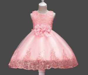 女の子の服はひだのレース党婚礼衣裳をからかう