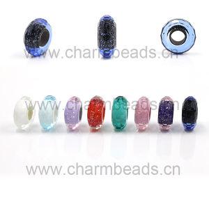 Bling de charme en verre de Murano perles à facettes Fit for DIY Bracelet européenne
