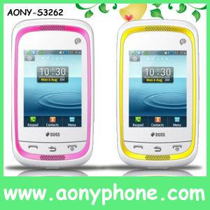2.4 polegadas cartão duplo SIM Celular, telefone móvel do televisor