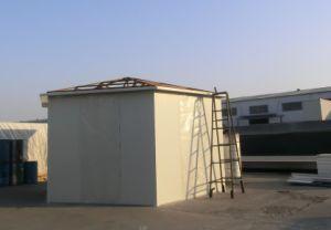 De prefabdie Structuur van het Staal voor het Pakhuis van de Opslag wordt afgeworpen