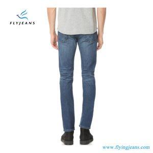 2017 última moda Blue Stretch Ripped Denim Homens (calças de ganga E. P. 4129)