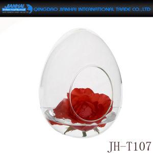 Cascas de forma pedra alta Esfera de água do vaso de vidro