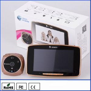 5GSM Mirilla visor de la puerta de la pantalla táctil y 2M píxeles de resolución de la cámara