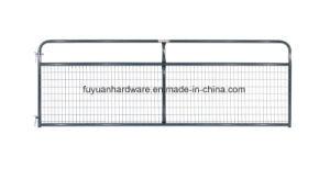 Cancello dell'azienda agricola della vernice dell'argento del tubo d'acciaio di uso dell'azienda agricola