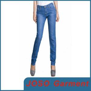 파란 여자 데님 여위는 청바지 (JC1048)