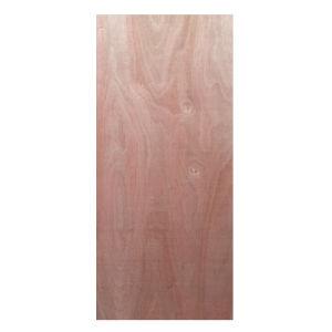 La puerta de madera contrachapada de Okume Fancy de piel para la decoración y mobiliario