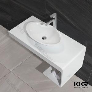 Kingkonree sanitaire  Compteur de surface solide Salle de bains vanité haut (181110)