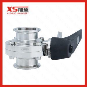 Valvola a farfalla igienica sanitaria dell'acciaio inossidabile SS304 SS316L TC della Cina