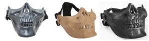 Регулируемый Silver-Black череп скелет Airsoft Пейнтбол половины поверхности защитную маску