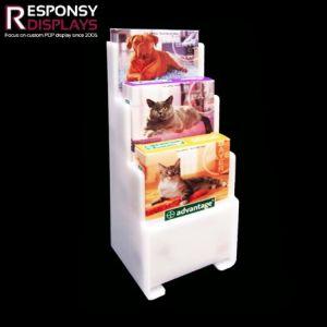 Acrylique blanc Affichage de nourriture pour chiens Aliments pour animaux de compagnie
