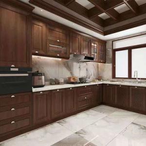 Clássico e moderno estilo europeu de madeira maciça de armários de cozinha