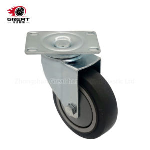Support de roulement à billes heavy duty Roulette industrielle TPR, PP, PG, fixe en PVC// frein de pivotement des roues pivotantes