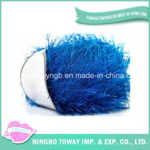 Fios de Nylon Eyelash Feather Fancy fios coloridos para lenços de pescoço