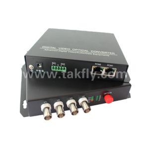 Un trasmettitore ottico e una ricevente dei 4 canali