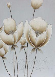 Pittura a olio Handmade di alta qualità con il cuore del fiore del diamante