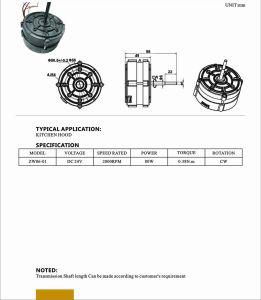 Venta de fábrica para el ventilador del motor eléctrico