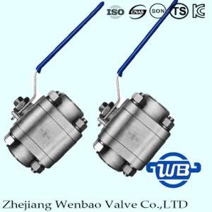 Valvola a sfera ad alta pressione dell'acciaio inossidabile delle tre parti