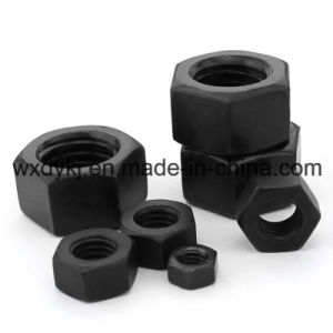 DIN 934 Grade 8,8 noir de l'écrou hexagonal lourd à tête hexagonale