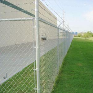 Vert Noir diamant galvanisé recouvert de PVC le maillon de chaîne de Wire Mesh Fence