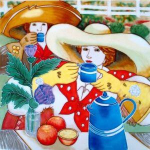 手塗りの芸術の陶磁器の絵画DT3007