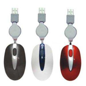 Retrackable Souris optique USB avec certificat RoHS Souris (M009)