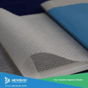 3D en relieve la tela sin tejer hidrófilos de materias primas de pañales para bebés