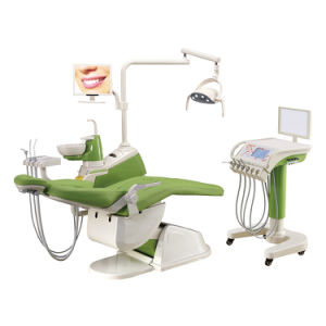 Integrales zahnmedizinisches Stuhl-Gerät, zahnmedizinisches Gerät, beweglicher zahnmedizinischer Stückpreis mit mobiler Karre (GD-S350C)