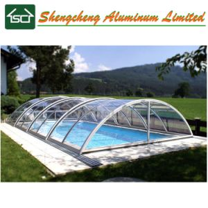 Het hete Polycarbonaat van de Verkoop en Dekking van het Zwembad van het Aluminium de Intrekbare